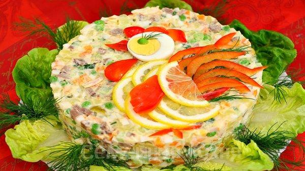 Салат по царски с фото